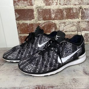 Nike TR Fit 5 Free Run Sneakers Shoes 9 black
